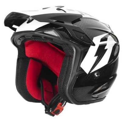 Jitsie Flow Ht2 Trials Helmet Carbon White Black Side