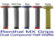 Renthal MX Grips Dual Compound Half Waffle Tapered