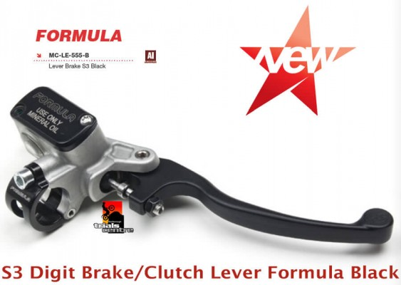 S3 Digit Brake Clutch Lever Formula Black