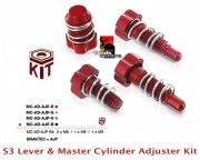 S3 Lever Master Cylinder Adjusters AJP Braktec MC AD AJP Kit Red