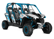 Can Am Marlborought Trials Blenheim Maverick Max X Turbo Ssv Atv Front Hyper Silver Black Octane Blue