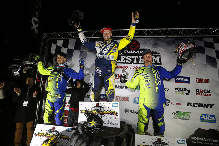Mario Roman And Wade Young On The Podium At Alestrem Xtreme Enduro 1