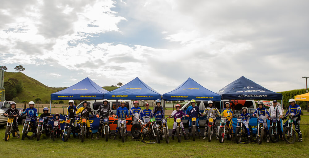 sherco-scorpa-montesa-riders-of-Marlborough-Trials-Centre-nelson-champs-banner