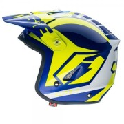 Jitsie Ht1 Trial Helmet Blue Yellow Available At Marlborough Motorcycles Trials NZ