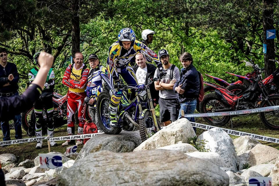 Albert Cabestany on the podium for the first GP Trial of the year 2